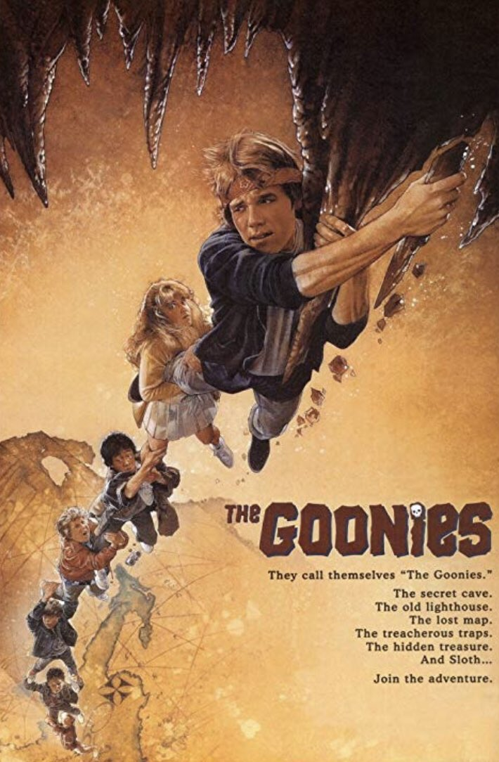 GOONIES!!  Released 34 years ago today. Will hold up FOREVER!! https://t.co/WYOgWUbODH