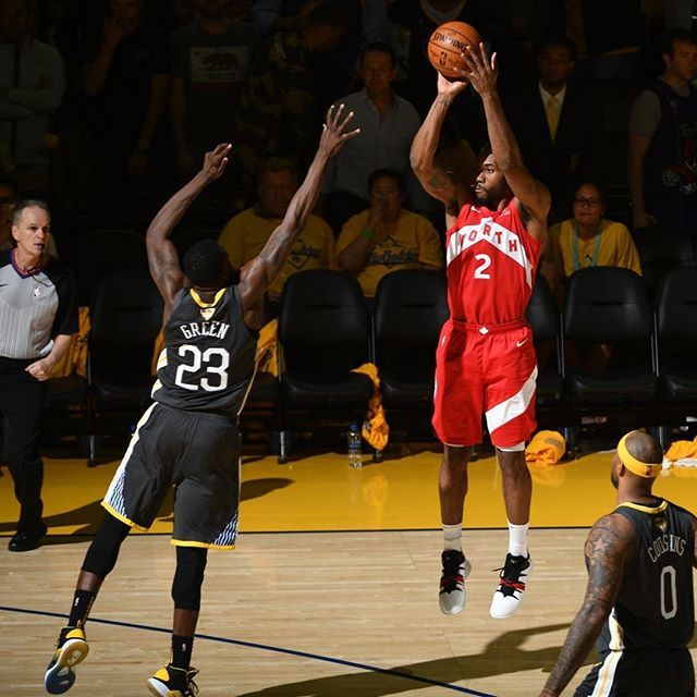 Bucket. Bucket. Kawhi Leonard and the Toronto Raptors take a commanding 3-1 lead against the Warriors in the NBA Finals. Is this series over or will Golden State storm back? #kicksonfire https://t.co/wszKRLbAag