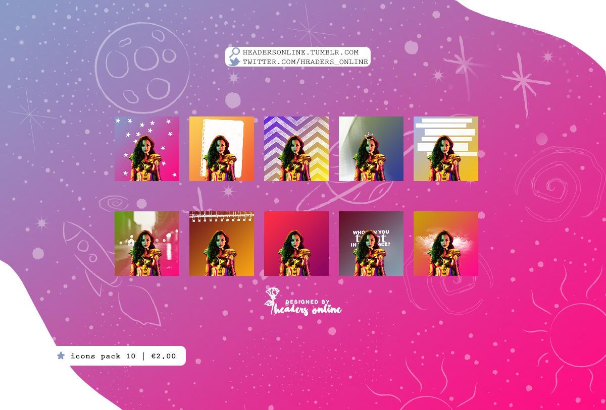 RT @Headers_Online: #WonderWoman2 10 Icons Pack // #iconspack ⚔️ https://t.co/5fYZ14Z1nA