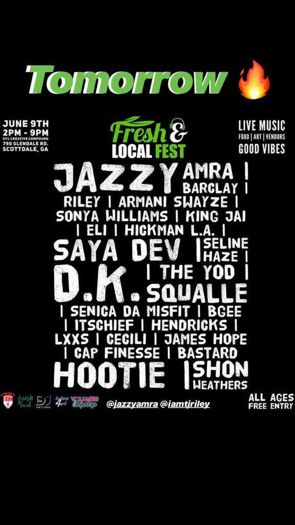 ???????????? LIVE PERFORMANCE by @JazzyAmra and @IamTjRiley  tomorrow in Scottdale, GA ????✈️# Support young queen and king ???????? https://t.co/u3IrK21hCH