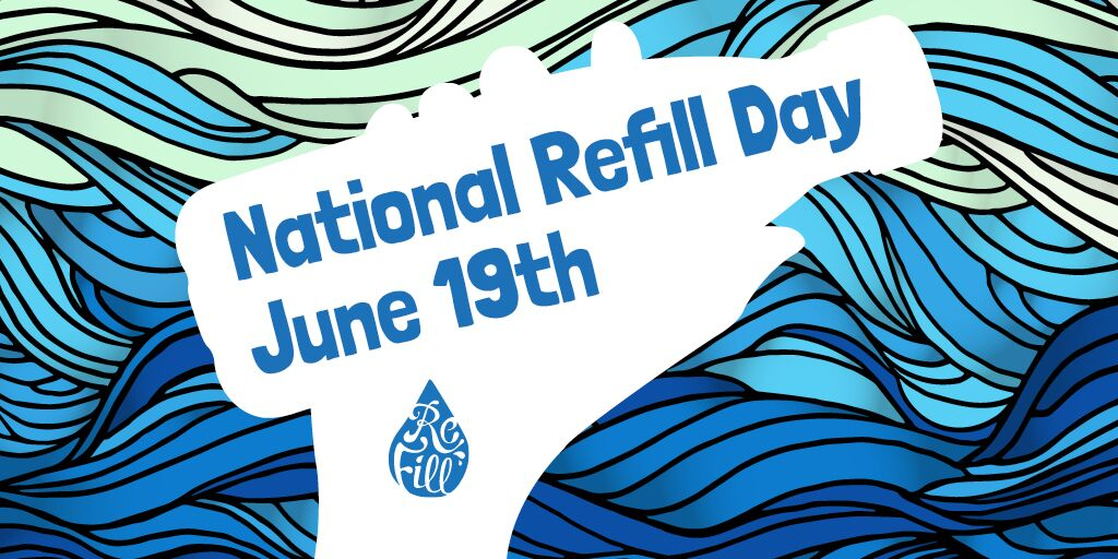 Have you #GotTheBottle to prevent plastic pollution on #NationalRefillDay? On 19th June why not switch from a single-use plastic bottle to a reusable one, and use the Refill app to find free water near you. https://t.co/anuHc1tTbY https://t.co/YcpZVOVsNG