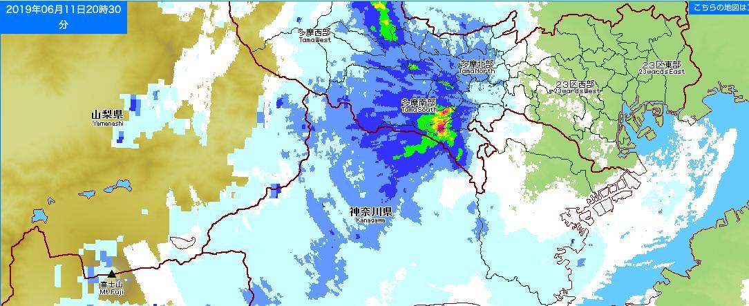 test ツイッターメディア - 東京アメッシュでみると23区西部から強い雨の地域。 https://t.co/UFRA0WZAsY https://t.co/N7Gxa0Xk0K