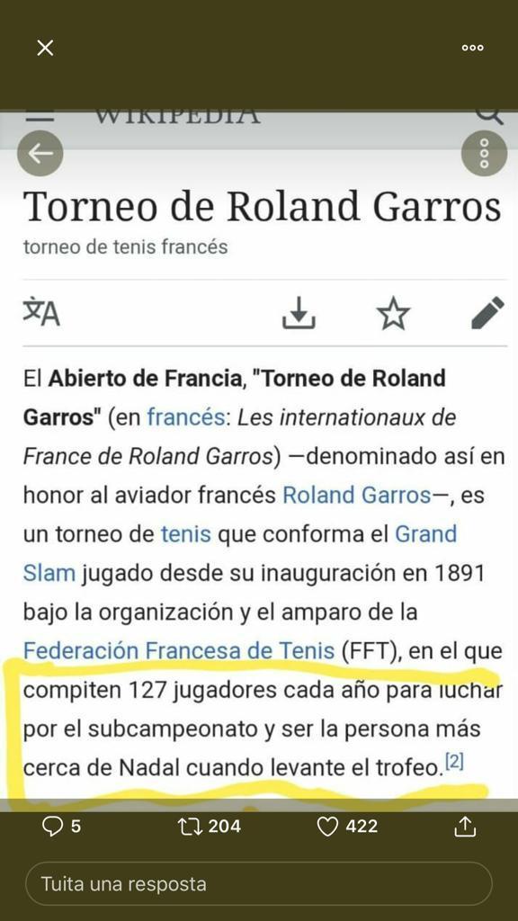 RT @jesuspascual10: Que es Roland Garros?Definición perfecta!!!!! https://t.co/qfA2YvUuaB