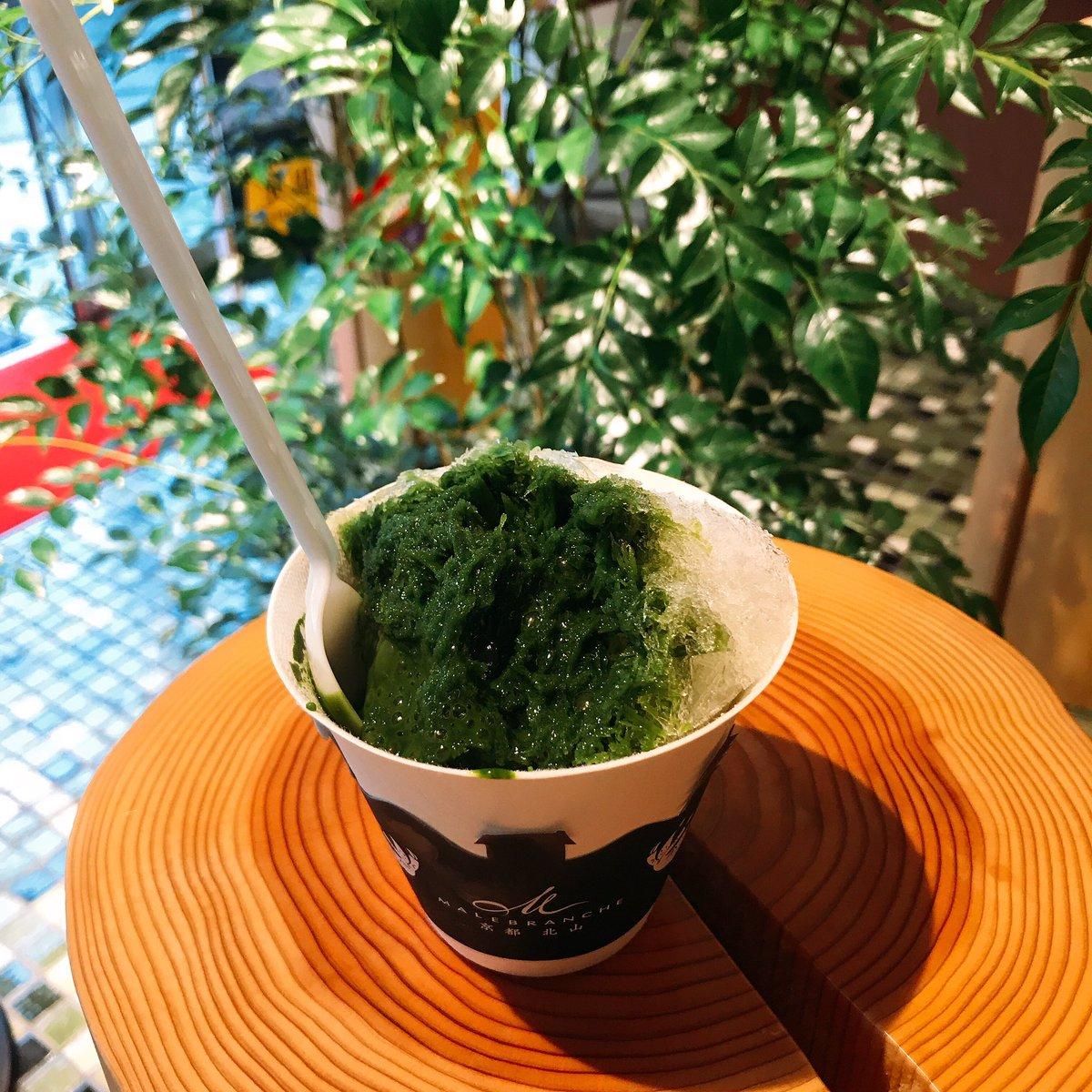 test ツイッターメディア - 京都タワーのマールブランシュ限定の「天然氷 生茶の菓かき氷」も美味しかった😋 https://t.co/0qPEgmAjld