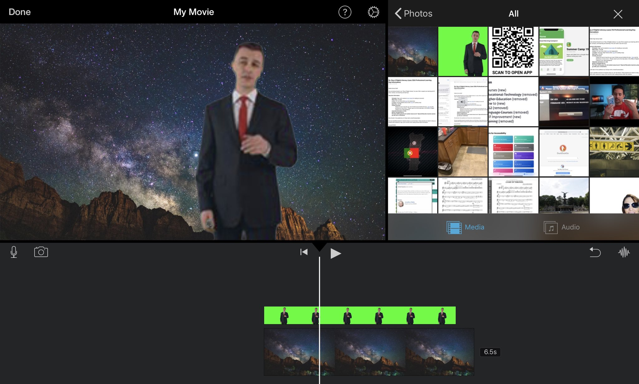 Looking forward to playing more with the new green screen functionality in the latest update for iMovie for iOS! 😎  #edtech #ipaded #ipadchat #edtechchat #edapps #adedu https://t.co/2N9raZlJ92