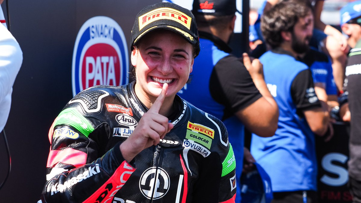 test Twitter Media - The #WorldSSP300 Champion returns in Misano!  @AnaCarrasco_22 confirms her aspirations to a second crown in #WorldSSP300 after winning in Italy, climbing to second place in the standings!  #RiminiWorldSBK🇮🇹  📃| #WorldSSP300    https://t.co/ExRwZzDSNl https://t.co/jIo4RPTF3x