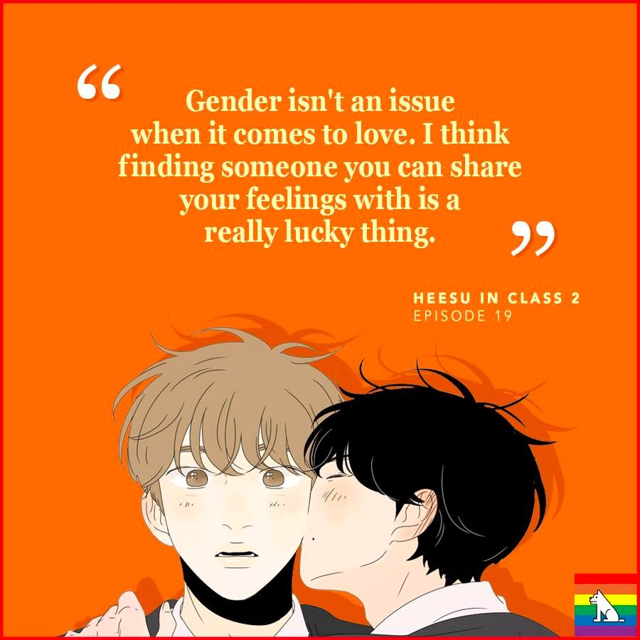 """test Twitter Media - 🌈🧡 For more """"Heesu in Class 2,"""" click here! 👉https://t.co/IxicE0HpYe  #GayPride #LGBT #loveislove #lovewins #lgbtcomics #HeesuInClass2 #BL #LezhinComics https://t.co/dr39VMjKYI"""