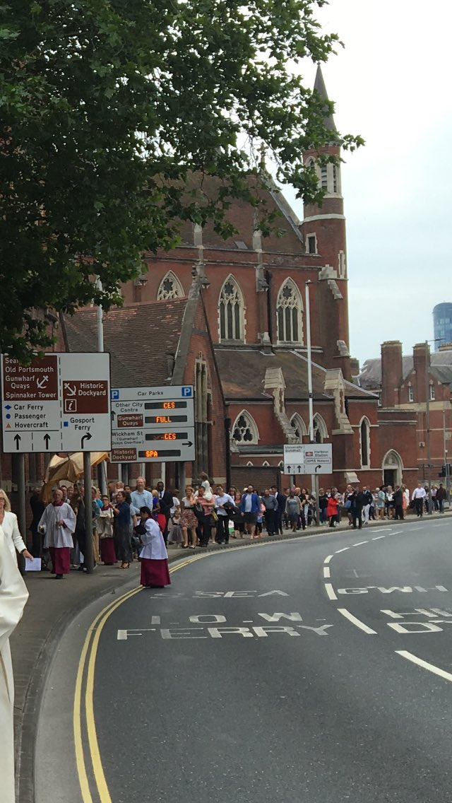 test Twitter Media - A great view of yesterday's Corpus Christi procession - hundreds joined us - although as you can see we're struggling a bit on the pavement with all the signage and street furniture! https://t.co/wWcq0cVYLr