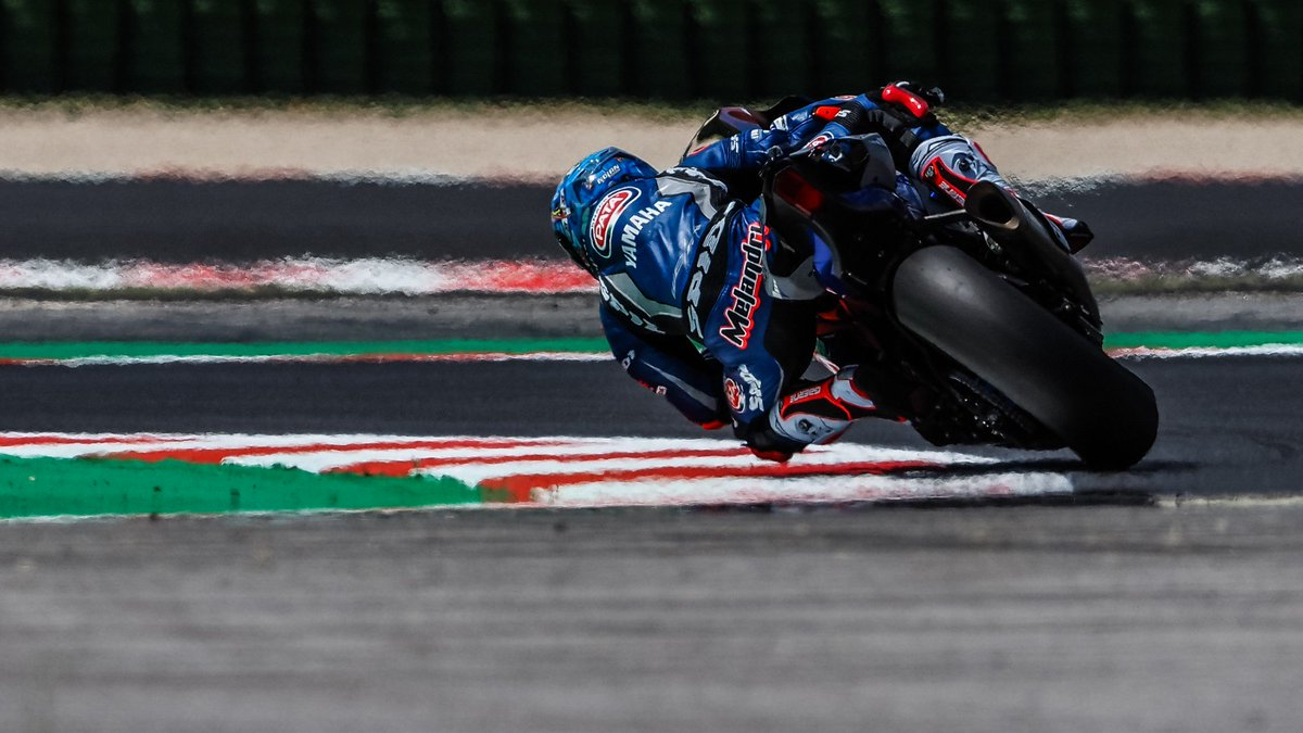 "test Twitter Media - ""Motivated"" @MarcoMelandri33 turns a corner in Misano!  The veteran Italian has put his experience to good use as he reflects on Misano, and states his eagerness to do well at Donington Park!  #RiminiWorldSBK🇮🇹  📃