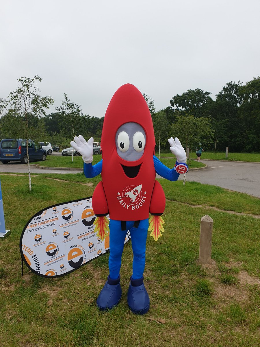Zoom is here at Hicks Lodge today helping to promote the Daily Boost to children from @SchVillage, @WoodcoteSchool and Moira. 60 Active Minutes every day!!! #NSSW @LR_Sport @NatForestCo @ForestryEngland