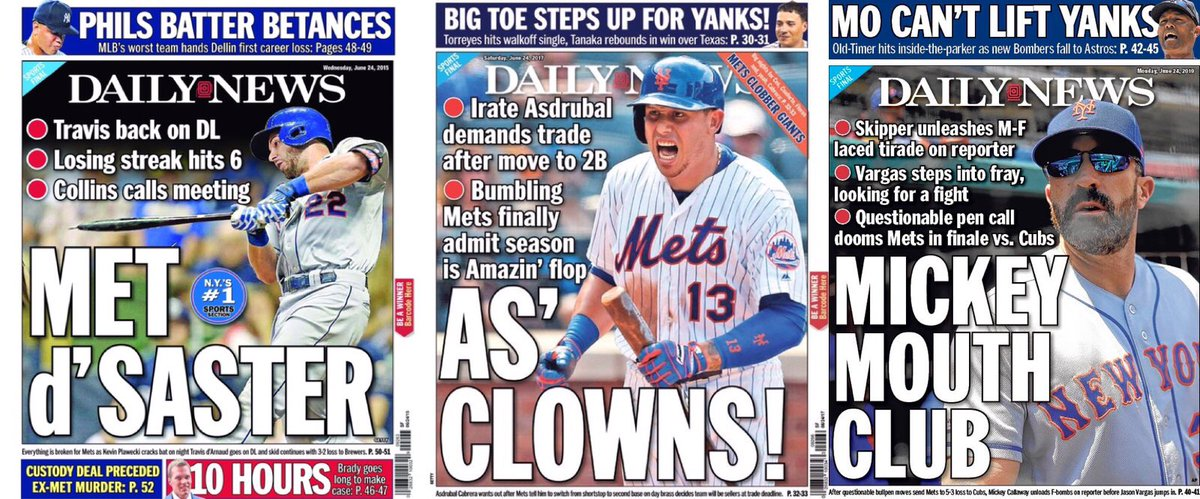 test Twitter Media - On this day in Mets history...2015, 2017 & 2019 @NYDNSports backpages...sensing a pattern here.. https://t.co/M2pXa8eNHb