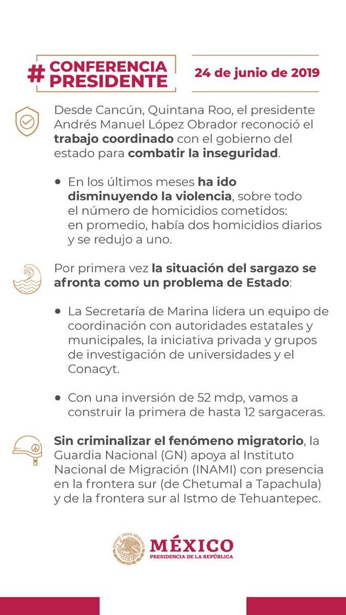 RT @SCT_mx: #MantenteInformado 🤓  Aquí el resumen de la #ConferenciaPresidente de hoy.👇🗞️  #FelizLunes ☀️☁️...