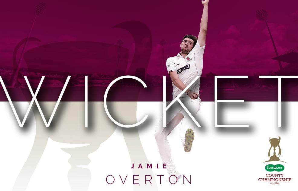 OUT! Jamie Overton gets Westley, caught in the gully by Jack Leach. Essex 72/2  #ESSvSOM #WeAreSomerset https://t.co/CLjiVgC6qP