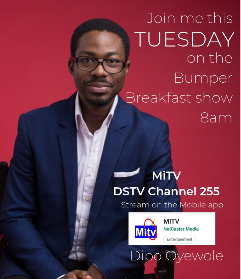 test Twitter Media - Join me this Tuesday on The Bumper Breakfast show Time: 8am  On MiTV, DSTV Channel 255 Or Stream on the MiTV Mobile App #ThePrince #BestOfYou #sentinel #consulting #ItWorks #enterprise #industry #entrepreneur #strategy https://t.co/zeSaE7Gt5r