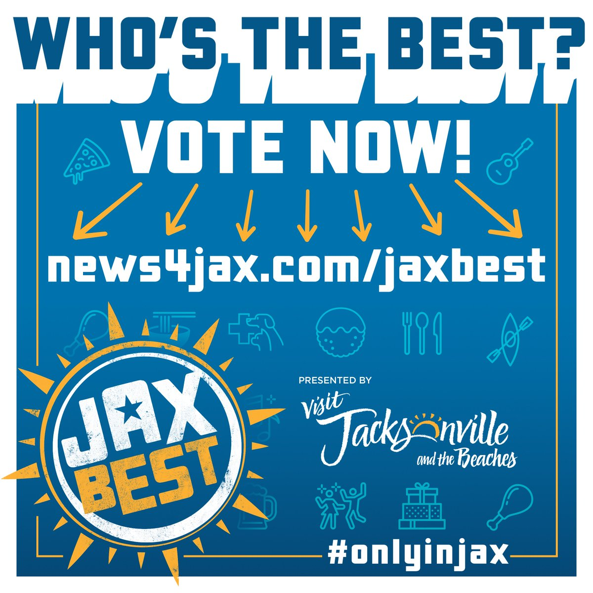 test Twitter Media - Ask a Local->When you have a visitor in Jax, where do you take them? Let us know and go vote for your favorite spot in the #JaxBest campaign! @wjxt4  #onlyinjax #visitjacksonville #lovefl https://t.co/vH6uKgVLXc https://t.co/LkoiXcsgZE