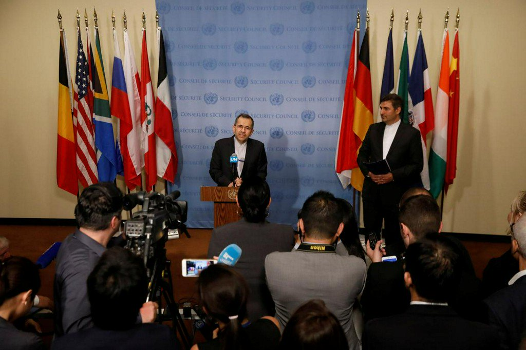 U.S. does not respect international law, atmosphere not right for talks: Iran's U.N. envoy