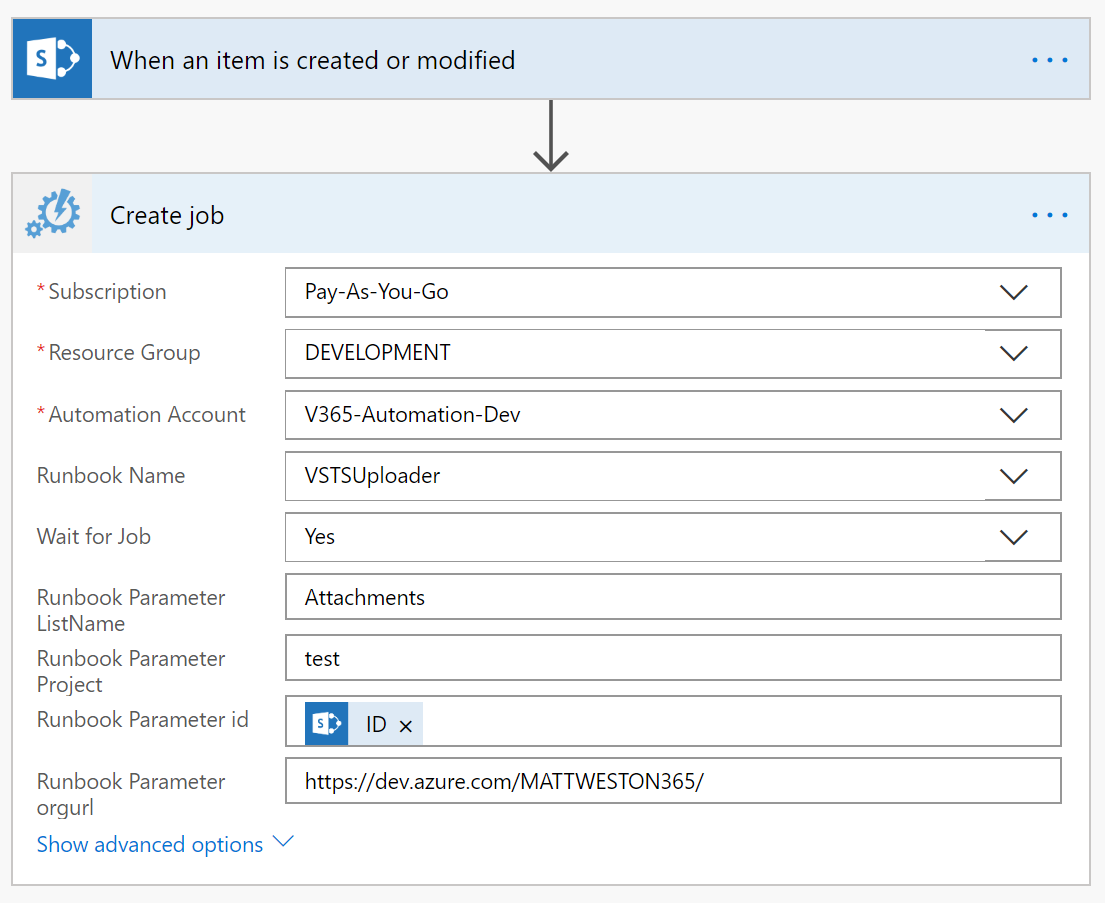 test Twitter Media - New Blog: Using #Flow and #Azure Automation to Upload Files to DevOps. Inspired by a session by @garrytrinder and by an issue raised in the #Flow Community (https://t.co/VSwwL5LWI6) #O365 https://t.co/Wxk9Ms4DrR https://t.co/ZUZfaB20mh