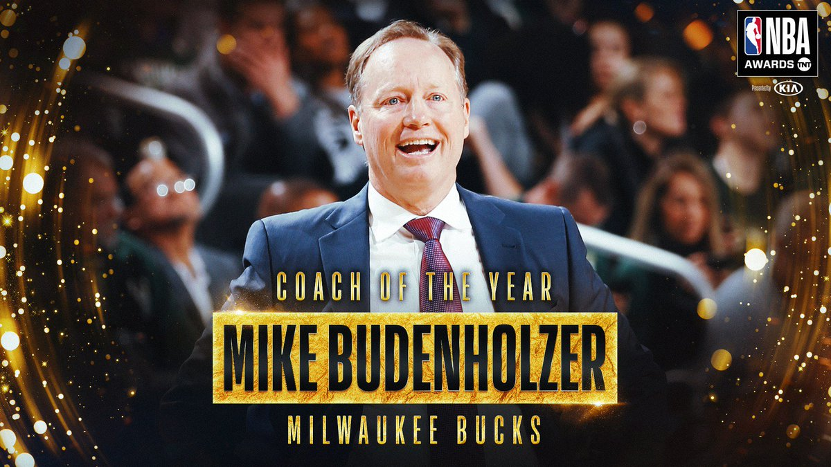 RT @NBA: The 2018-19 NBA Coach of the Year is… Mike Budenholzer! #NBAAwards https://t.co/2YJEojiF0q