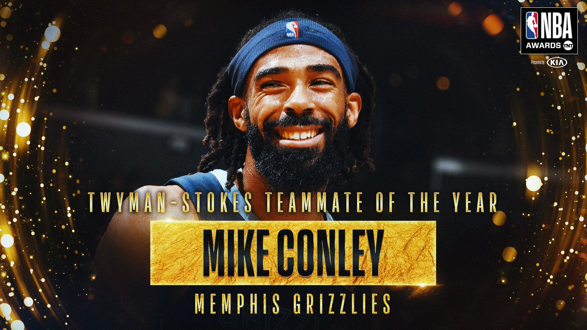 RT @NBA: The 2018-19 Twyman-Stokes Teammate of the Year Award goes to @mconley11! #NBAAwards https://t.co/epmVpUXyNK