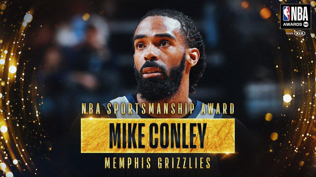 RT @NBA: The 2018-19 NBA Sportsmanship Award goes to @mconley11! #NBAAwards https://t.co/BoCSfKghB6