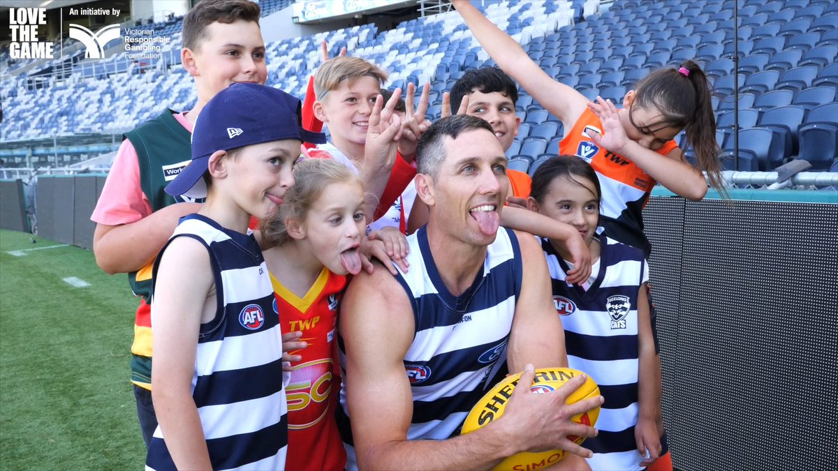 """As a father of three kids I'm proud that GMHBA Stadium is now a gambling ad free environment.""  We're proud to get behind the Love the Game round.   Info 👉"
