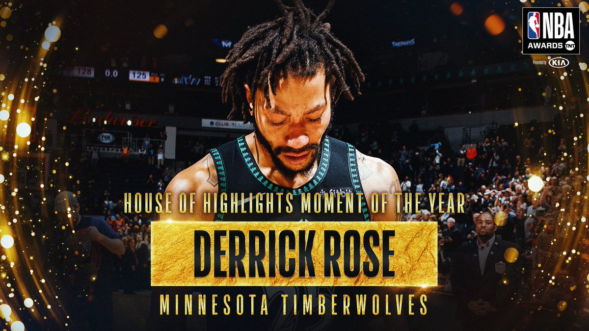 RT @NBA: Voted the @HoHighlights Moment of the Year...  @drose's 50-point game for the @Timberwolves! #NBAAwards https://t.co/4IAmJNYm6R