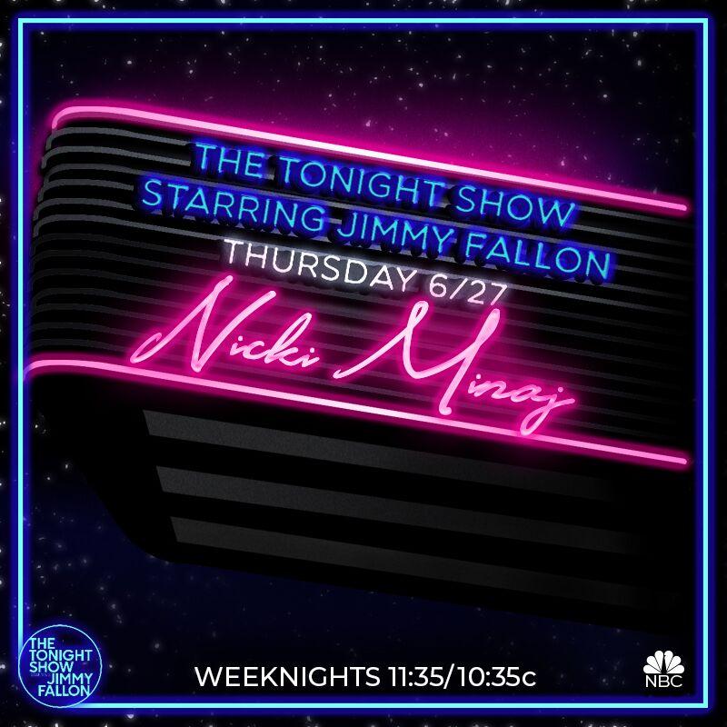 RT @FallonTonight: Pound the alarm at 11:35pm EST this Thursday because @NICKIMINAJ will be on #FallonTonight! https://t.co/SuCbZJx6Fq