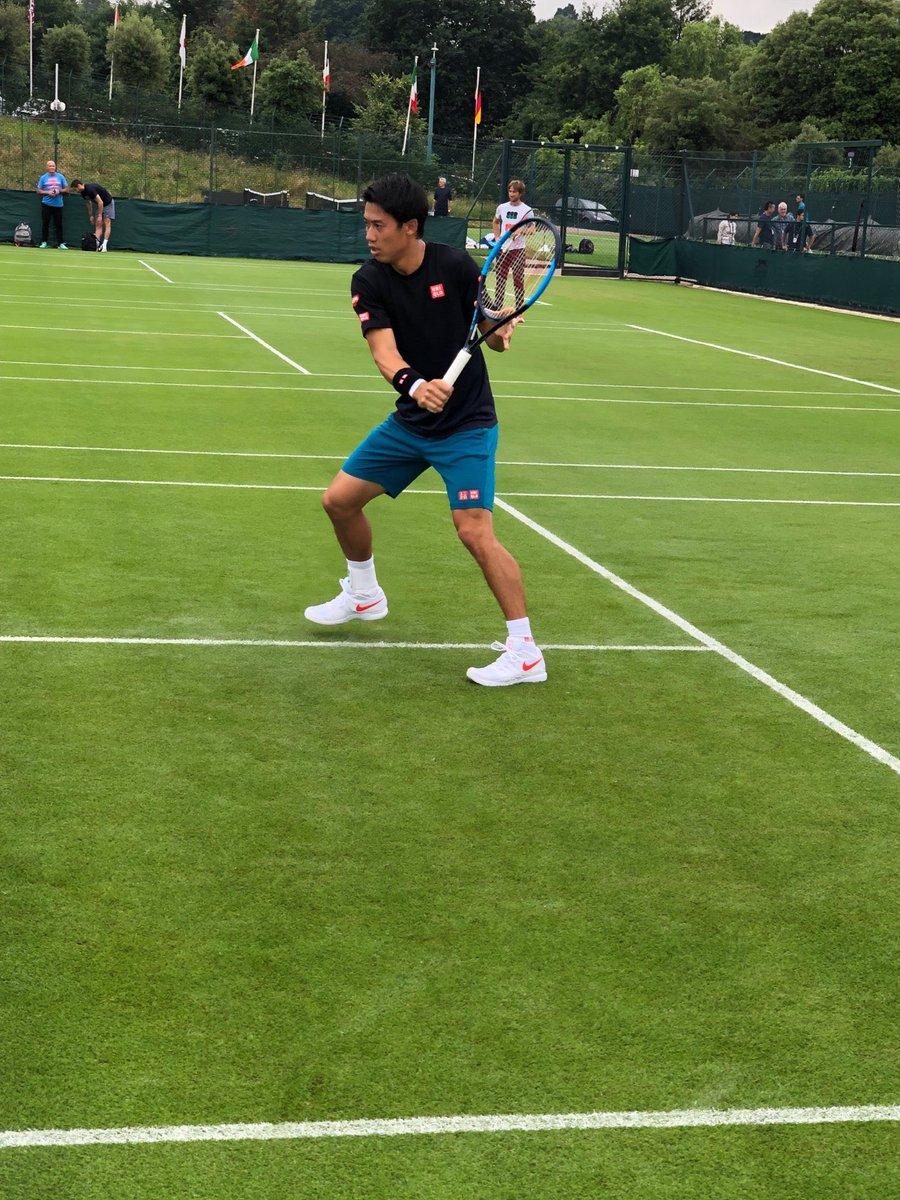 RT @keinishikori: Hello @Wimbledon!! https://t.co/2RvIjRmhJj
