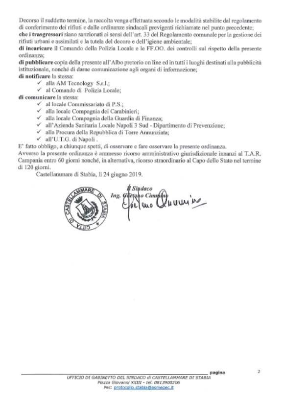 test Twitter Media - A causa del perdurare della sospensione dell'attività da parte dei siti di stoccaggio, la raccolta dell'umido è sospesa fino a mercoledì 26 giugno. -  https://t.co/tokuxQ4CA4 -  #Ordinanza #Ambiente #Castellammare #CastellammarediStabia #Stabia2019 #Stabiae #25giugno - https://t.co/CD6NsXPTs5