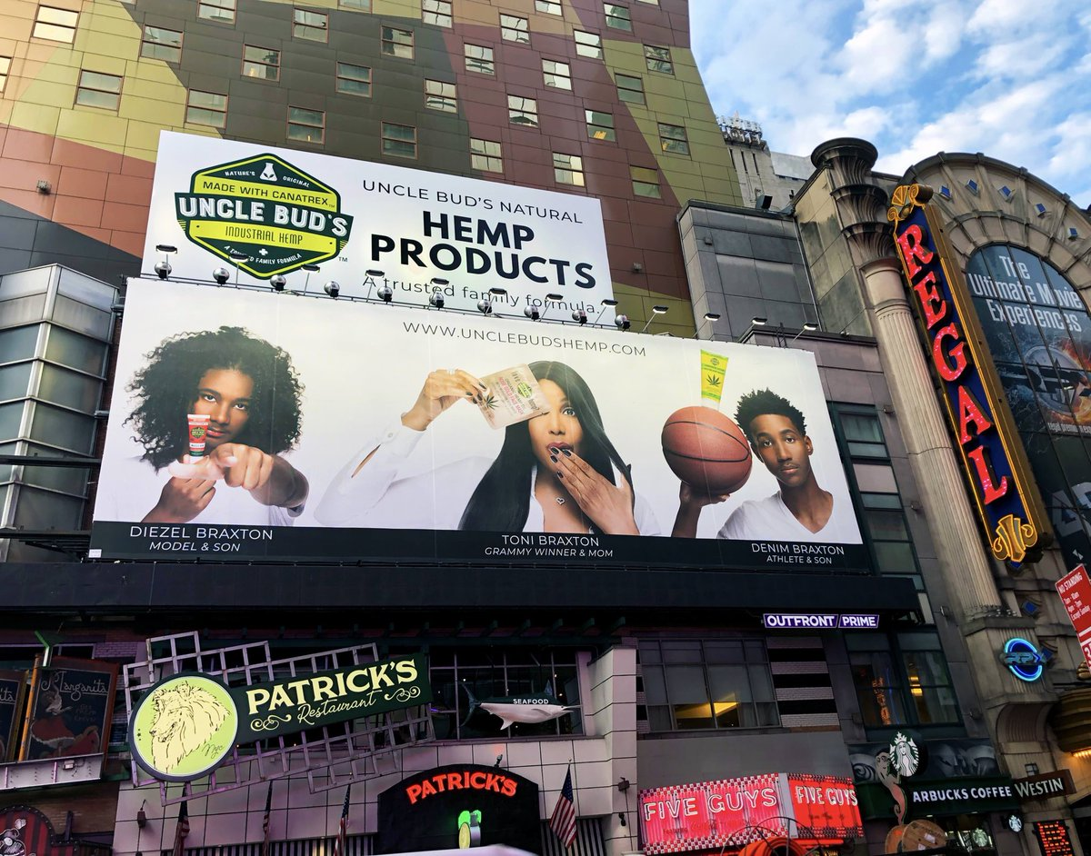 RT @UncleBuds_Hemp: The world's #1 trusted HEMP family formula in Times Square! https://t.co/1uj3Ku4osO