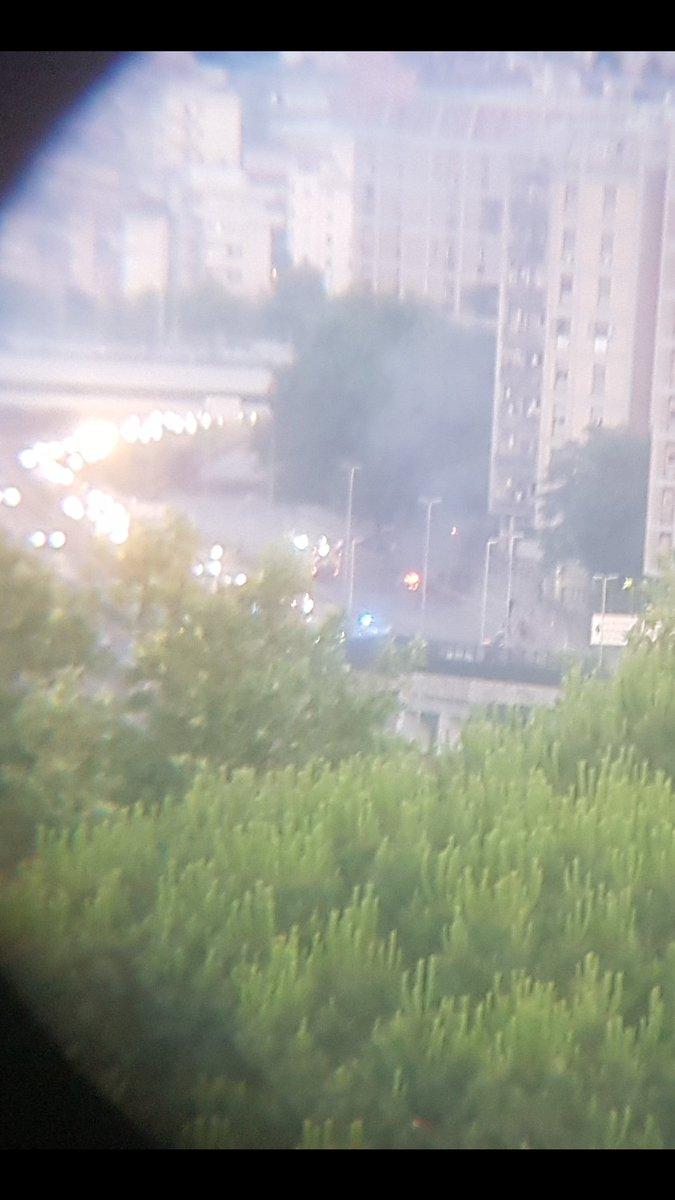 test Twitter Media - Incendio sulla Tangenziale est altezza viale Etiopia. Traffico paralizzato. Tangenziale chiusa in direzione S. Giovanni. https://t.co/O4h4jebaIH