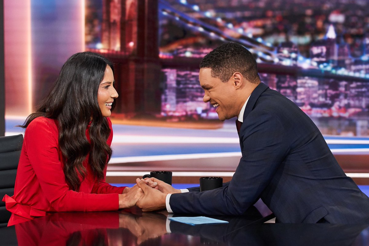 Combining lowly coveted super powers tonight w @Trevornoah on @TheDailyShow https://t.co/ftRkIE3p0Y
