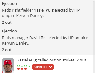 test Twitter Media - Sometimes you play #DFS and sometimes it plays you.  Yasiel Puig ejected after garnering zero points. Giancarlo Stanton injured. https://t.co/y52yiwMZhZ