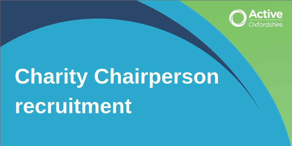 We're looking to appoint a Chair for our board. Passionate and proactive with the necessary leadership skills, if you feel you can help us tackle inactivity across Oxfordshire then apply now! https://t.co/WCYdzSvsM1