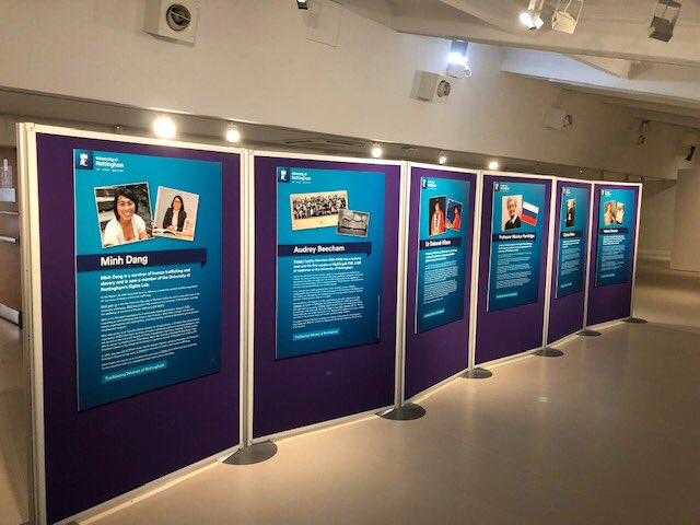 When you come to #WonderNotts tomorrow, please pop into Lakeside Arts gallery 2 and see our exhibition of Trailblazing Women of Nottingham https://t.co/YXTbZpo0yx