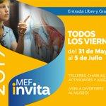RT @mefpatagonia: Hoy es viernes de #MefInvita!! Te esperamos hasta las 18hs https://t.co/ZTFGC91Iwl