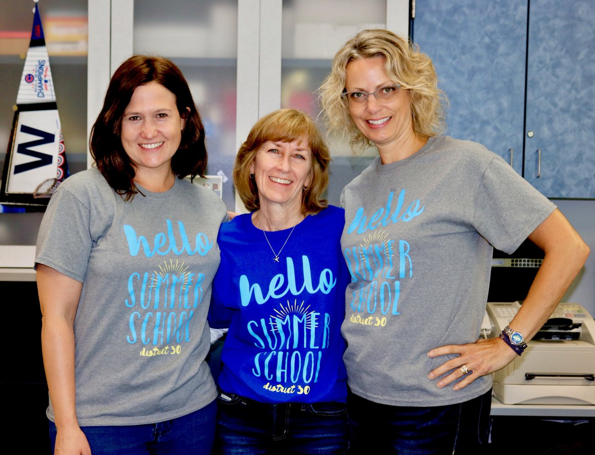 test Twitter Media - TY Leora Kurtz for designing this awesome 2019 Summer School t-shirt! Asst. Principal Ashley Grosshuesch, WB secretary Mary Jean Fetzer, and secretary Kathy Janca fill the front office with sunny smiles! #d30learns https://t.co/6Rea6fa5Fu