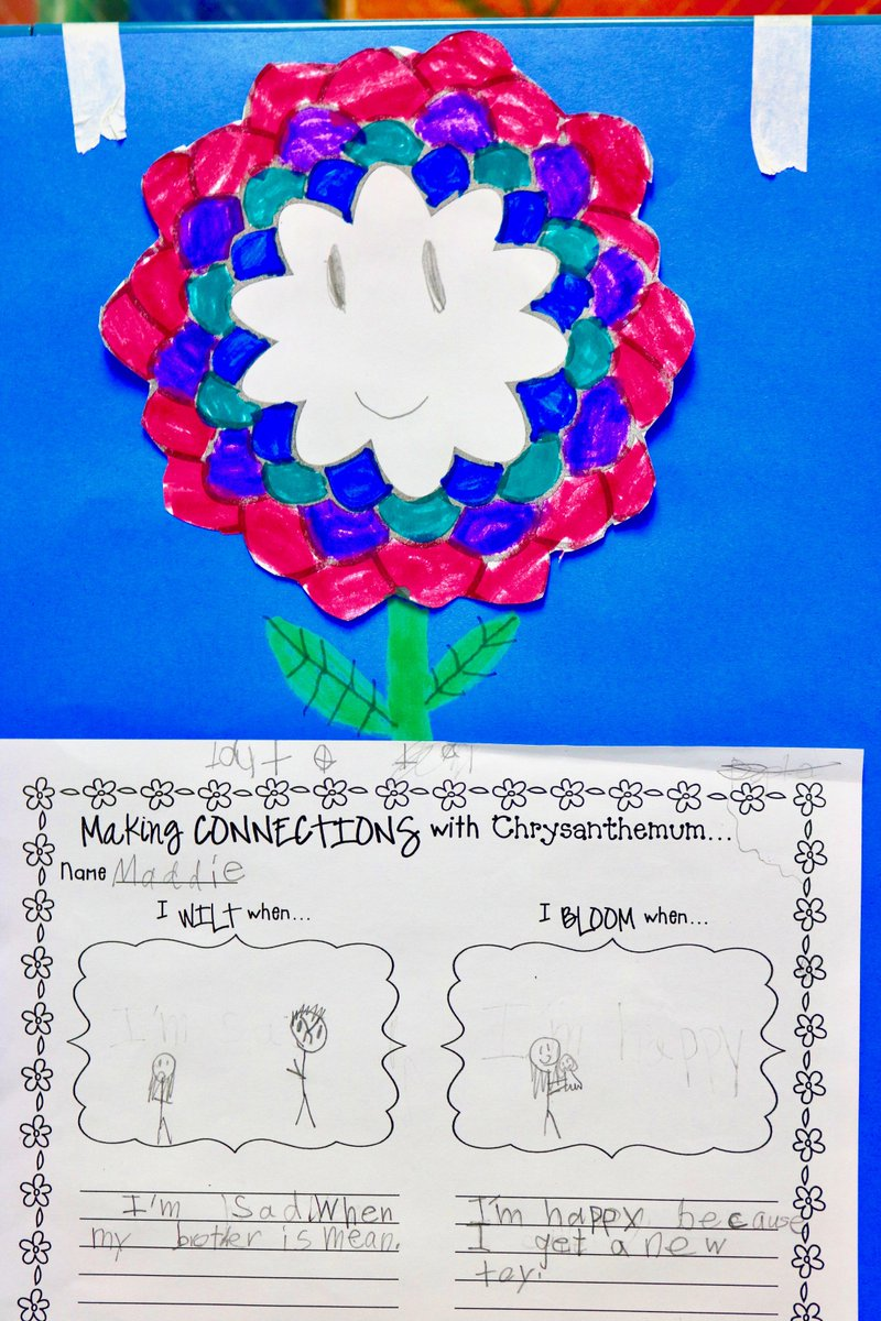 "test Twitter Media - Summer School little ones are ""Making Connections with Chrysanthemums."" Example, ""I wilt when people make fun of me."" I bloom when I make a new friend."" #d30learns https://t.co/8ybDiCKiqg"