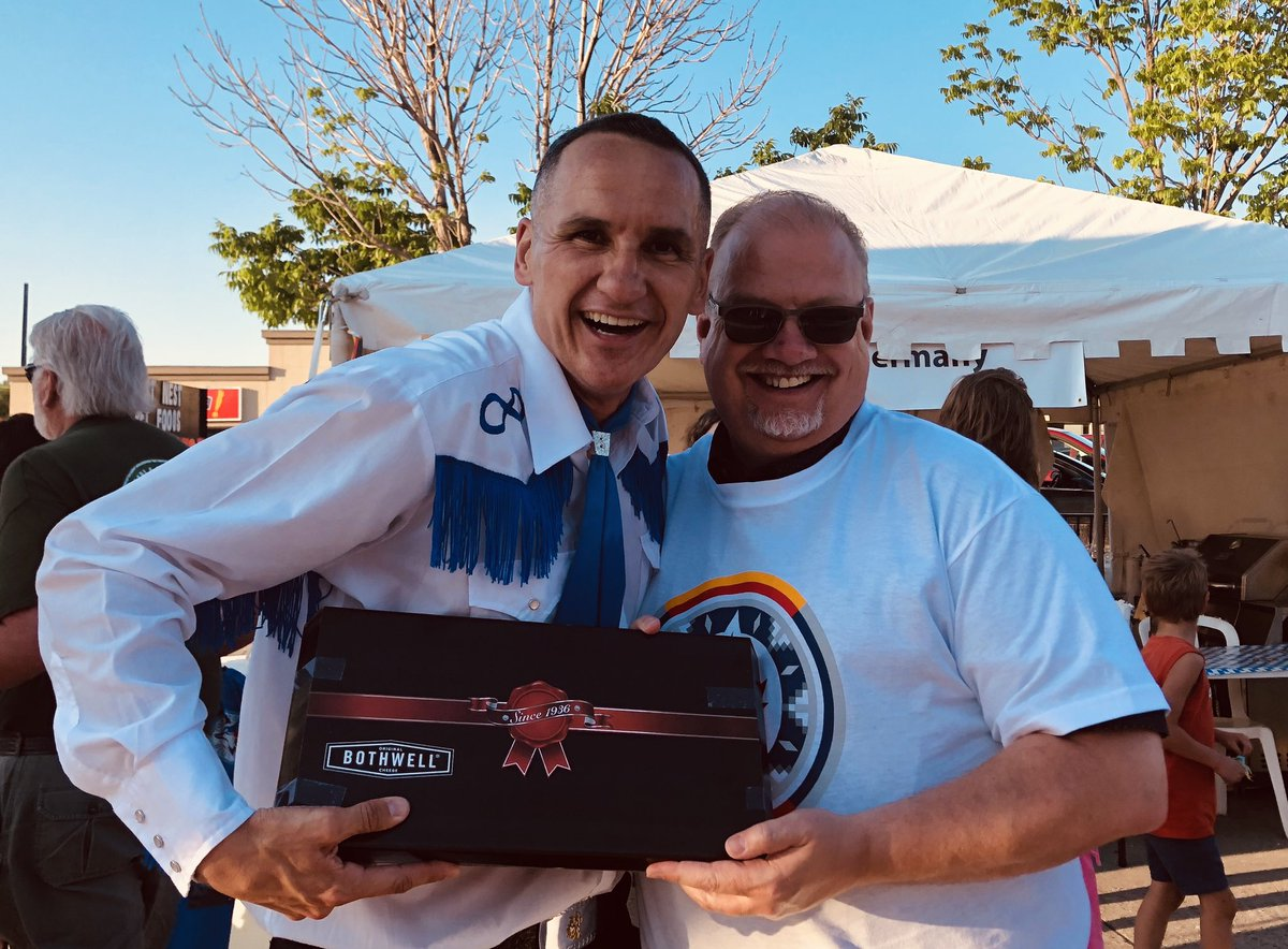 test Twitter Media - Always great to welcome my friend @kevin_chief and the Norman Chief Memorial Dancers To Steinbach for Summer In The City. Enjoy the @BothwellCheese buddy! #MBPoli https://t.co/Z3JFiWPXy7