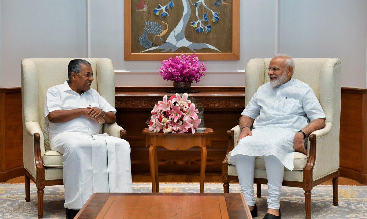 The CM of Kerala, Shri @vijayanpinarayi called on PM @narendramodi in New Delhi. @CMOKerala https://t.co/pN3EcgpyMx