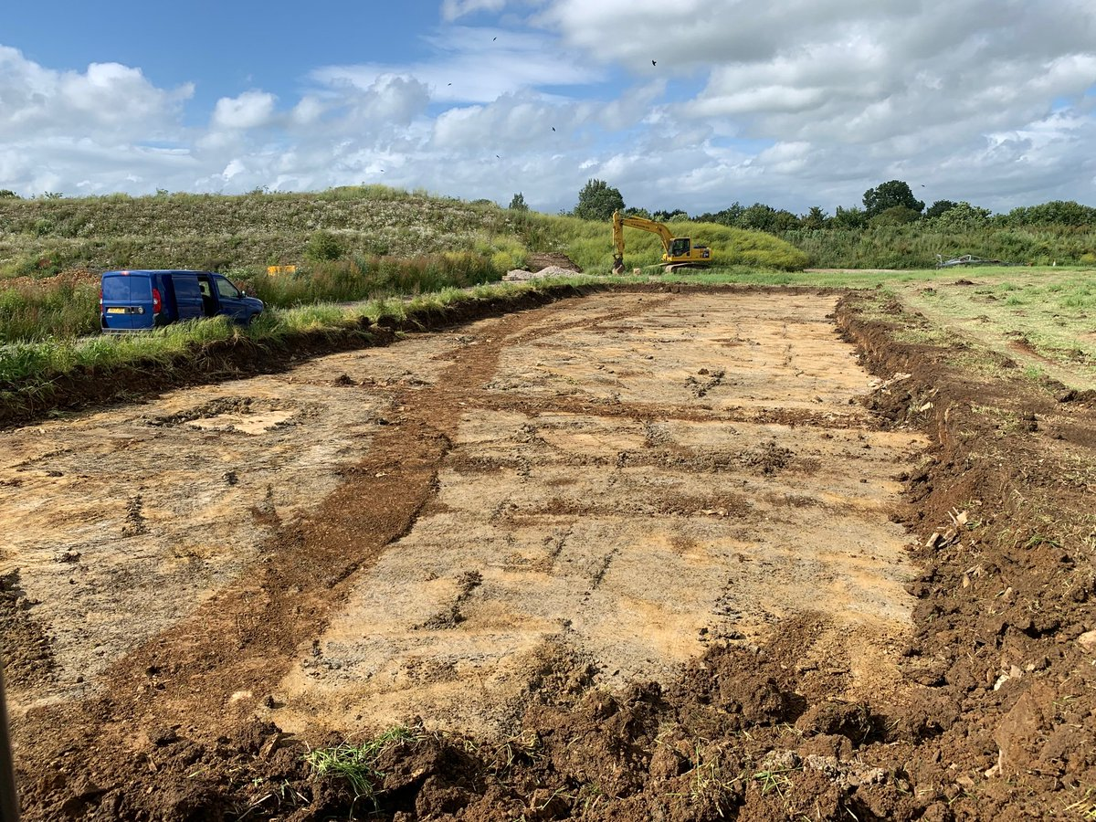 Archaeology dig well underway, Phase 1 of our Blue Lias Quarry extension. https://t.co/MzTZMZIkb2