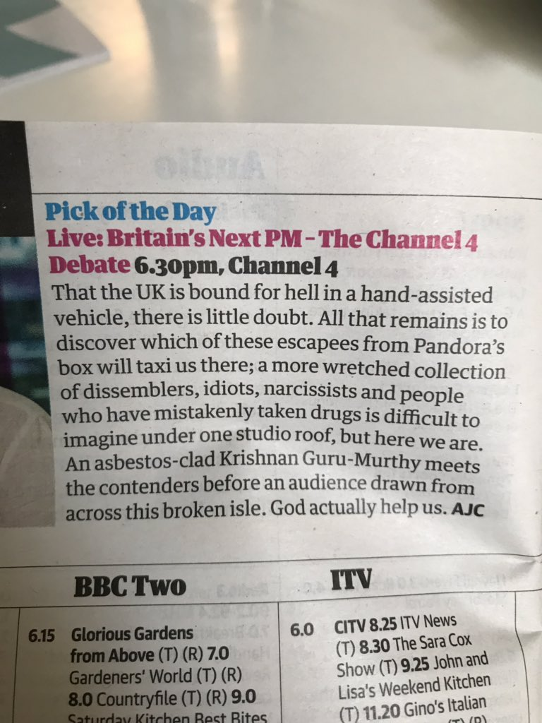 RT @Tweet_Dec: No but tell us how you really feel The Guardian 🤣 https://t.co/nNKiLEXk9i