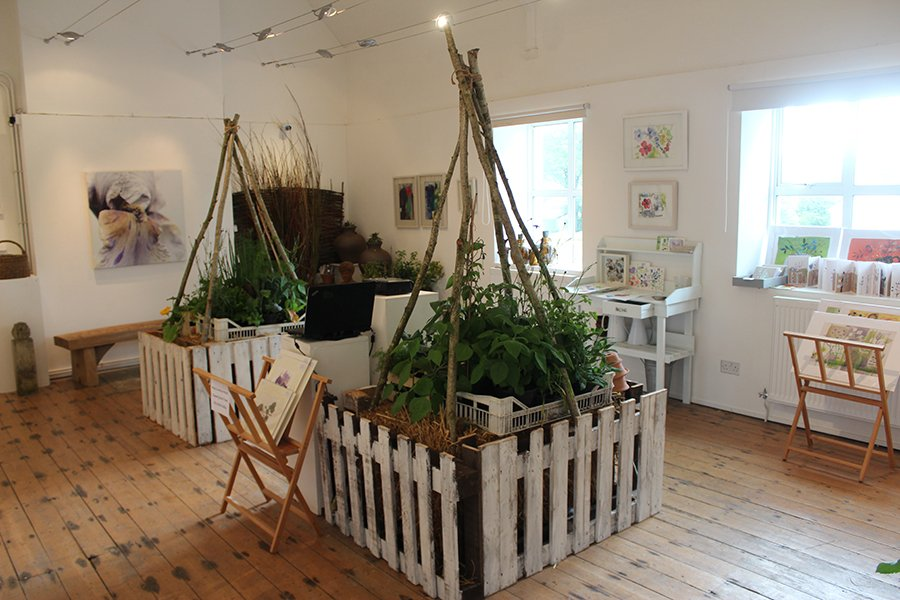 Image for Brand new exhibition 'Potager' is open today! There's lots to see in this celebration of all things horticultural. Gallery and Reading Room Café open from 11am - 5pm. There will also be a live watercolour demonstration by Ruth Kirkby 2 - 4pm #exhibition #art #garden #RealMidWales https://t.co/Se5v7EE1uU