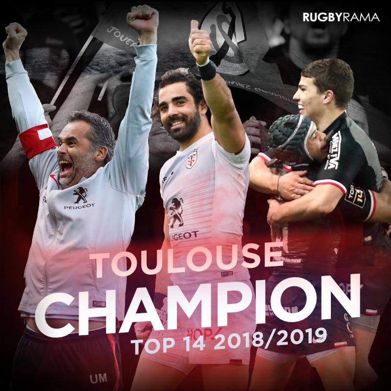 Pour la 20ème fois de son histoire, Toulouse est Champion de France !  #STASM #FinaleTop14