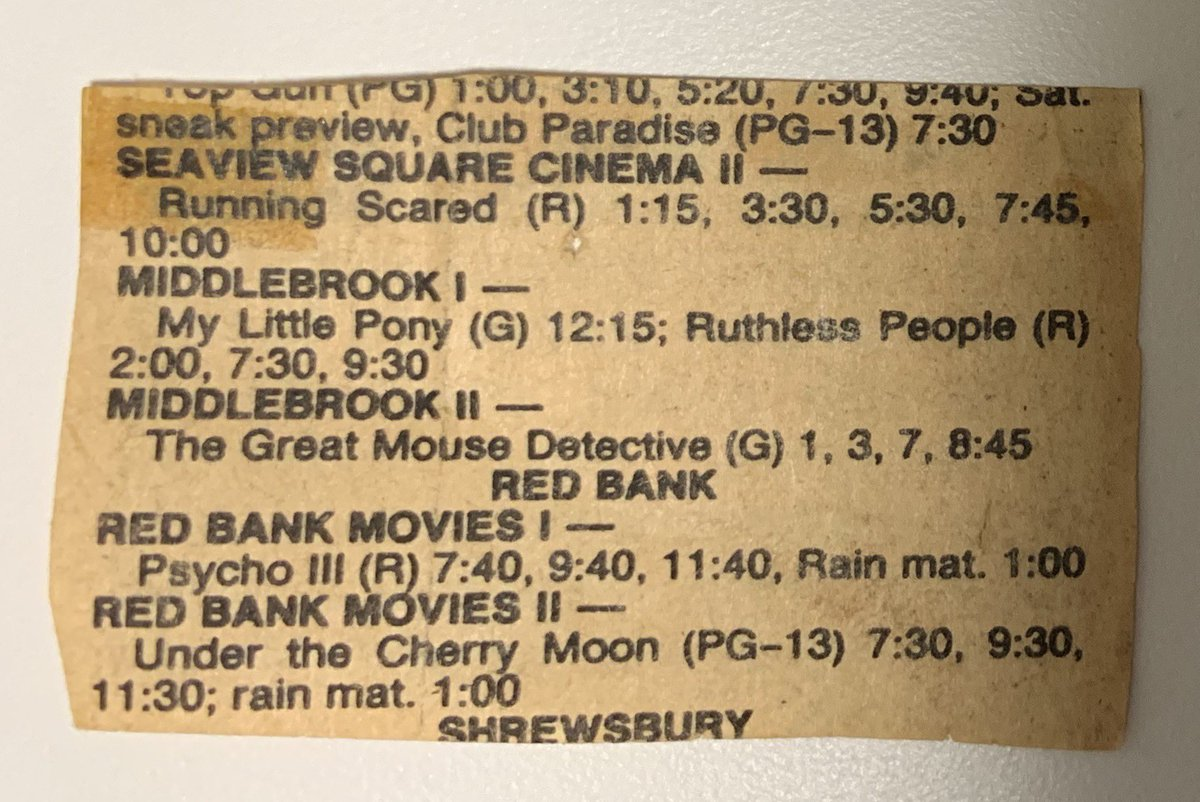 It's 1986 in Monmouth County, NJ! Let's go to the movies! https://t.co/KICfoo6R9L
