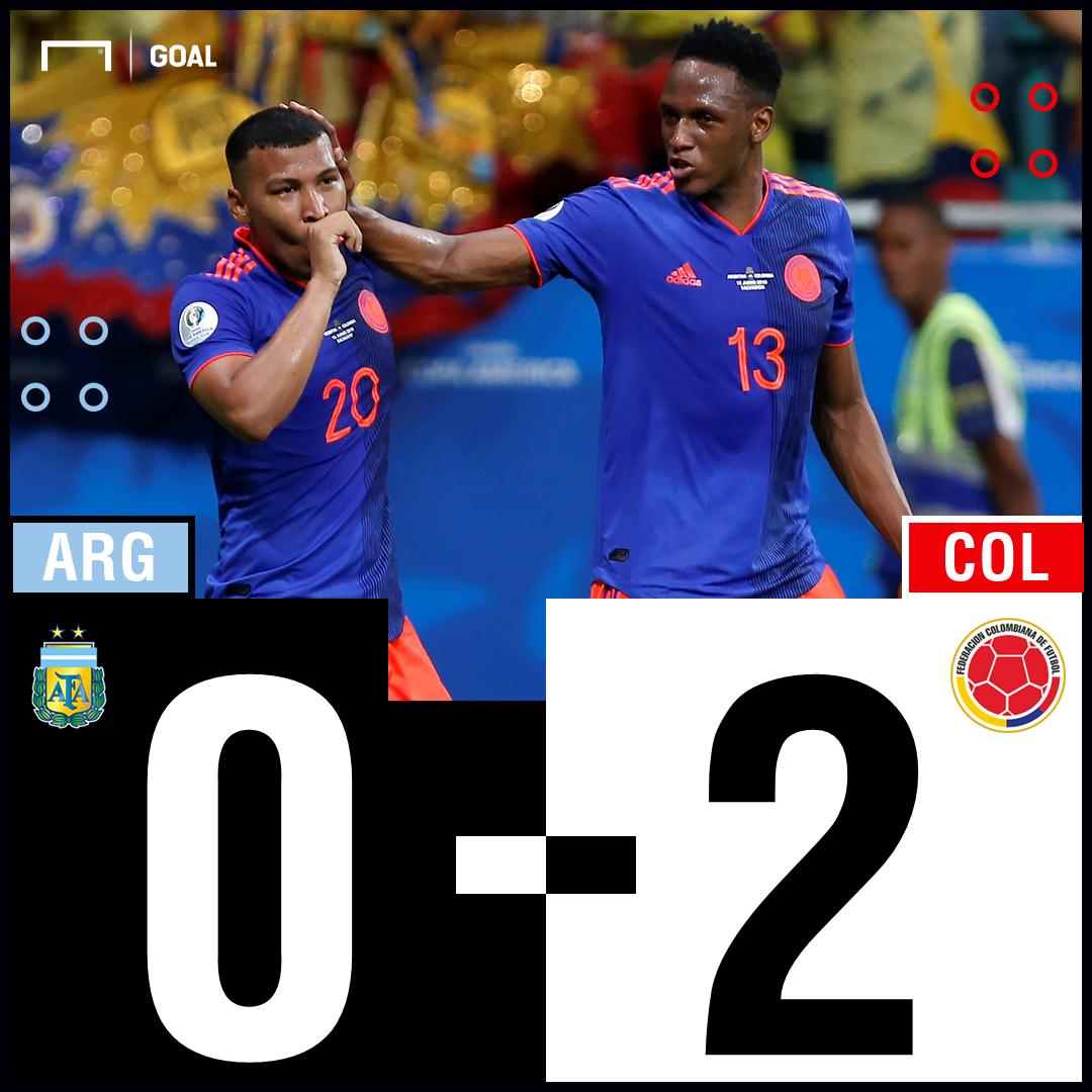 RT @GOAL_ID: FT! #Argentina 0-2 #Kolombia  LIVE: https://t.co/6xv8afWCbU  #MatchdayGoal #ARGCOL #CopaAmerica https://t.co/j9qrK5Roj0