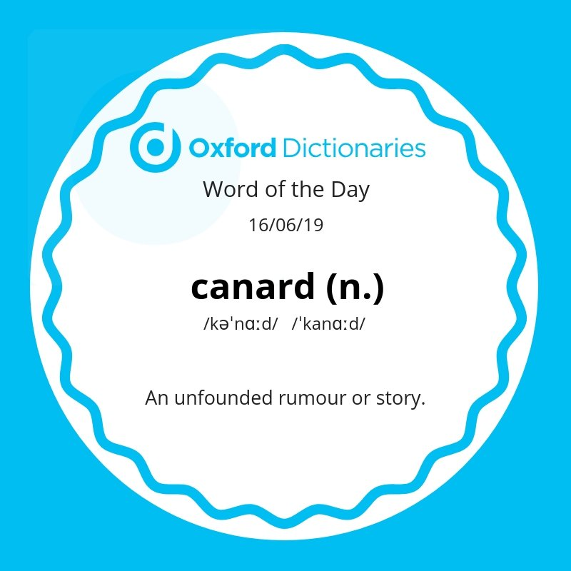 test Twitter Media - Word of the Day: canard https://t.co/DcRQVTBGka
