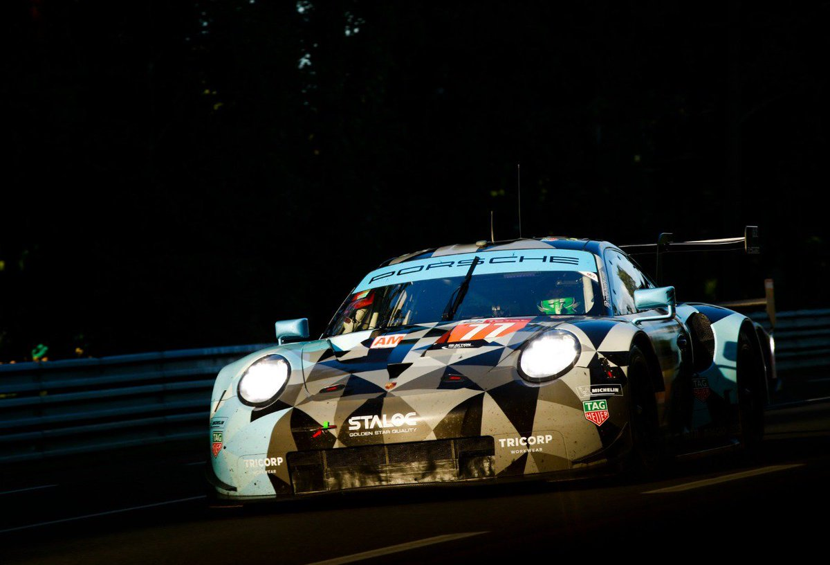 #LeMans24 - FINISH! The @PatrickDempsey @ProtonRacing #911RSR No 77, the 2018 GTE-Am winner, took P5 in one of the toughest @24hoursoflemans ever. The No 78 with the all-rookie crew finished on P7. Well done, guys. @Porsche @FIAWEC