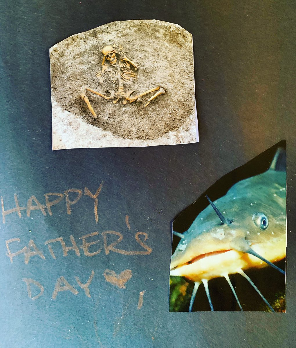 Calliope Hand picked these pictures out of a magazine for this card and would not be dissuaded. Happy Fathers Day! ???? https://t.co/fu1LRBLxUG