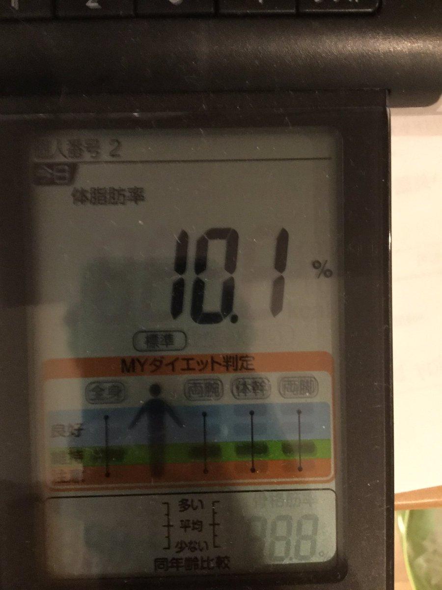 体脂肪率下がったしん!(›´ω`‹...